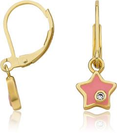 LMTS Girls Pink Superstar Crystal Speck Earrings - ER6257B-PK-GP