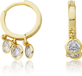 LMTS Girls CZ Dangle Earrings - ER6471B-GP