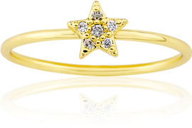 LMTS Girls Gold-Plated Star Ring - RG6017B-GP