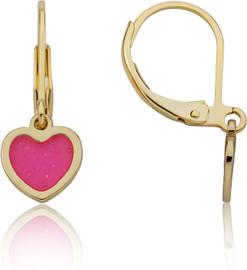LMTS Girls Transparent Heart Dangle Earring - ER6853B-GP
