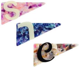 Custom Acrylic Triangle Inital Clip