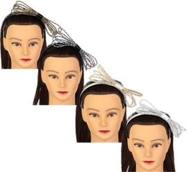 Riqki Girls Lurex Rope Bow Headband - HB2002