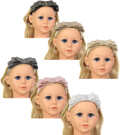 Riqki Baby Girls Metallic Linen Headband - HB2005B