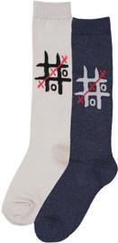 Bimbam Girls Tic Tac Toe Knee Sock - BBTTT