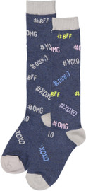 Bimbam Girls Hashtag Knee Sock - BBHST