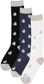 Bimbam Girls Hearts Knee Sock - BBHT