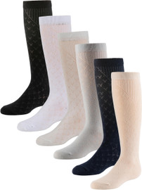 Zubii Girls V Patterned Knee Socks - 701