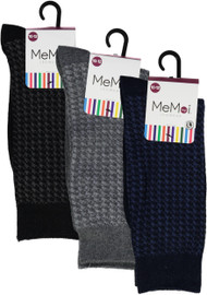 Memoi Boys Houndstooth Dress Socks - MK-129