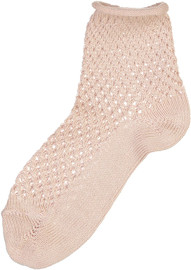 Condor Girls Net Crochet with Rolled Cuff Ankle Socks - 2508/4