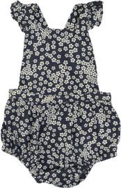 Hux Baby Girls Flower Frill Romper - HB1516