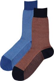 Condor Mens Pique Bicolor Crew Socks - 6349/4