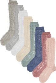 Condor Girls Shimmer Crochet Knee Socks - 2528/2