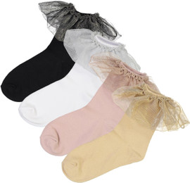 BlinQ Girls Soft Shimmer Skirt Ankle Socks - 324