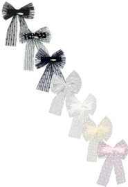 Dacee Girls Accordion Pleated Tulle Hair Clip - AS1346