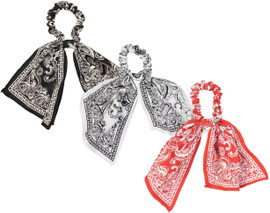 Dacee Bandana Print Scrunchy with Tails - SCT1311