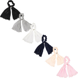 Dacee Accordion Pleated Satin Scrunchy with Tails - SCT1371