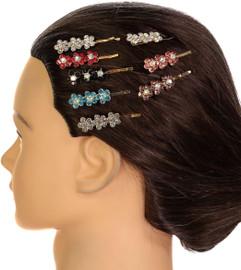 Riqki Jewel Flower Hair Clip - Gold
