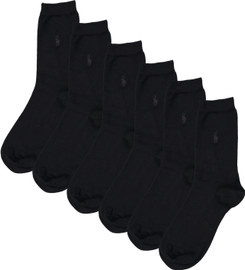 Ralph Lauren Womens Crew Socks 3 Pack - 7125PK