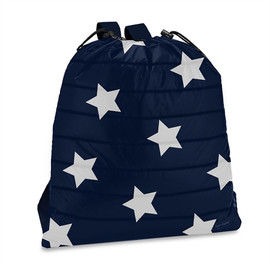 Top Trenz Navy with Star Puffer Drawstring Sling Backpack - SLING-PUF4(STAR)