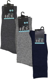 HUE Mens Marled Socks with Slim Cushion - HM17310