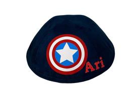 Yarmulka w/ Vinyl - Name Captain America