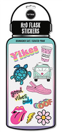 Top Trenz H20 Yikes Water Bottle Stickers - STICK2-HYDRO-YIKES
