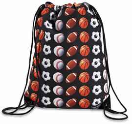 Top Trenz Sport Print Drawstring Sling Backpack - SPORT1-SL