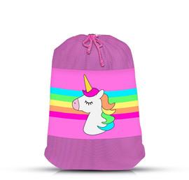 Top Trenz Unicorn Stripe Mesh Laundry Bag - LDRY-USTRP2