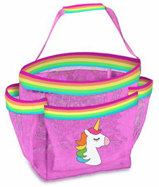 Top Trenz Unicorn Stripe Mesh Shower Caddy - CAD-USTRP2