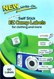 EZ Write-On Self Stick Camp Labels