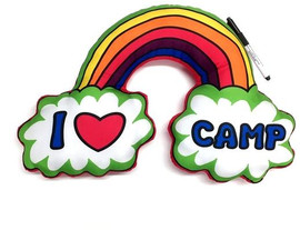 Bunk Junk I Love Camp Rainbow Autograph Neck Pillow - BJ804