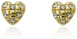 LMTS Girls Quilted Heart Stud Earring - ER5756B-GP