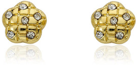 LMTS Girls Quilted Flower Stud Earring - ER5756B-GP