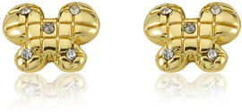 LMTS Girls Quilted Butterfly Stud Earring - ER5754B-GP