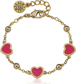 LMTS Girls Transparent Triple Heart Chain Bracelet - BT2178B-GP
