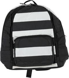 Bari Lynn Puffy Stripe Backpack