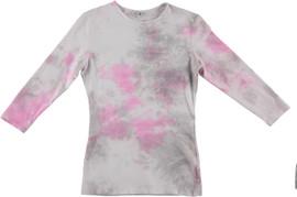 Kiki Riki Womens 3/4 Sleeve Tie Dye T-Shirt - 29268
