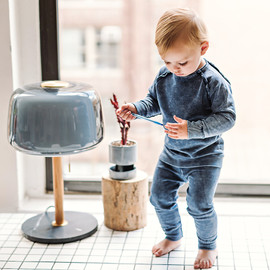 Analogie by Lil Legs Baby Toddler Boys Girls Denim Raglan Outfit