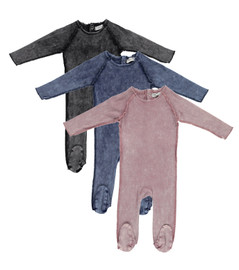 Lil Legs Boys Girls Unisex Baby Denim Ribbed Stretchie