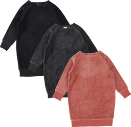 Analogie by Lil Legs Girls Velour Sweatshirt Dress