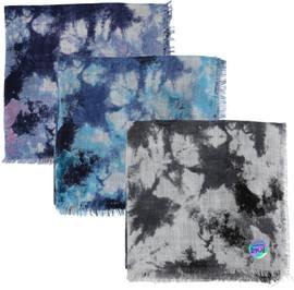 Ateret Open Tie Dye Flower Israeli Tichel