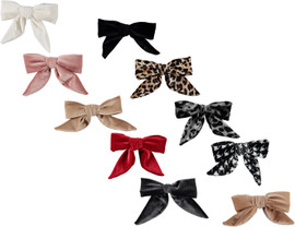 Dacee Smocked Velvet Bow Small Clip - AS1439