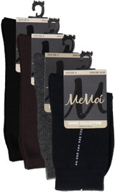 Memoi Boys Dotted Lines Dress Socks - MK-115