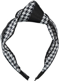 Riqki Girls Houndstooth Turban Headband - HB2021-B