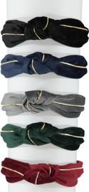 Riqki Girls Suede Gold Knot Headband - HS2100