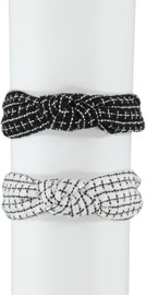 Riqki Girls Woven Plaid Knot Headband - HS2106