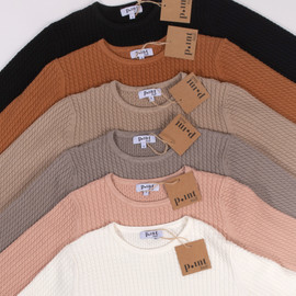 Point Womens Cable Knit Crew Top - FA20-164