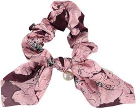 Riqki Silkscreen Scrunchy w/Pearl -  3001S
