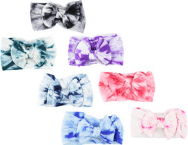 Riqki Tie Dye Stretch Bow Baby Headband - baby3051
