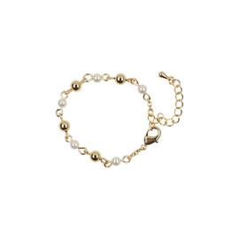 Tilyon Gold Bead & Pearl Bracelet - BR-1795-C